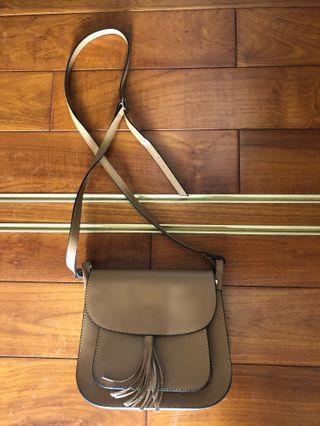 義大利購入真皮氣質優雅側背包斜背包