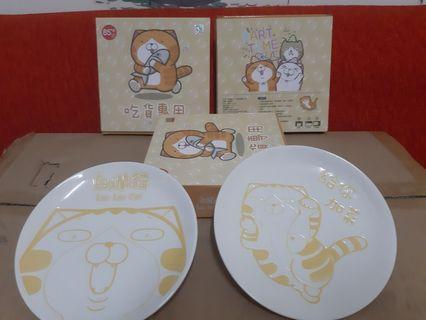 白爛貓餐盤組(每組2個盤子)