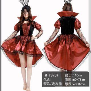 現貨-萬聖節服裝表演服惡魔成人吸血鬼女連衣裙恐怖鬼服裝
