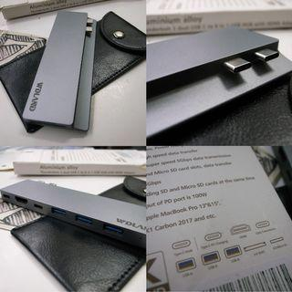8 IN 1 TYPE C Thunderbolt Hub Adapter USB 3.0 HDMI 4K macbook Rm198
