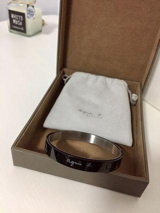 Agnes.b 黑色基本款手環 專櫃公司貨