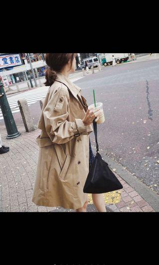 全新 卡其色氣質風衣 外套 韓版  韓國 收腰顯瘦休閒