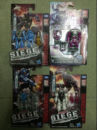 Transformers Siege Blowpipe Aimless Firedrive Skullgrin Battle Target Masters Bundle Set