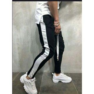Stripe Pants , joger pants , joger , celana cowok