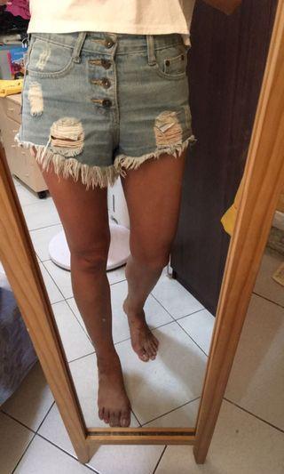 牛仔短褲熱褲