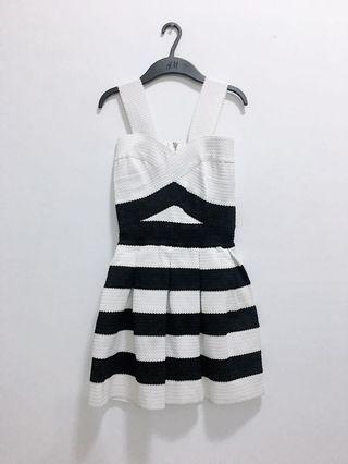 黑白條紋繃帶洋裝、小禮服