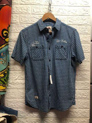 邊緣人🚶S號 Edwin #江戶勝 保存良好 短襯衫🏝藍3