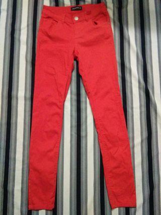 Terranova woman's red skinny bottoms