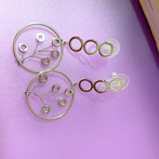 典雅圈圈 長條式氣質耳夾