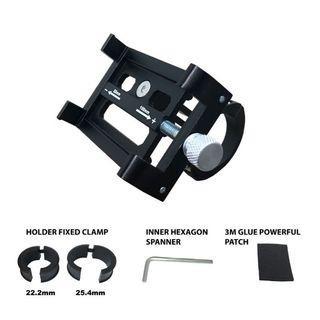 ALLOY PHONE HOLDER MODEL KP-B28 BLACK 22.2 25.4 31.8mm