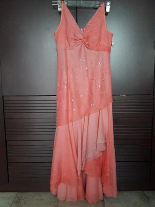 Custom made Salmon Pink Party Dress