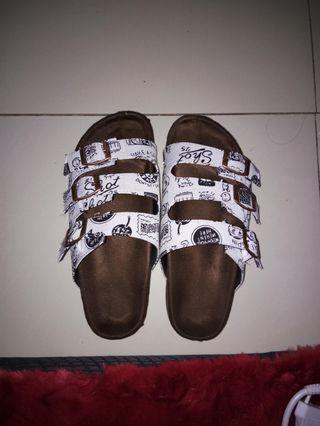 flat sandal white / birken sandal