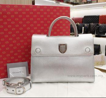 Christian Dior Diorever Medium Bag Silver