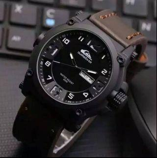Jam tangan QUICKSILVER TANGGAL CHOCO   Kulit quicksilver premium pakai tanggal diameter 4.5cm