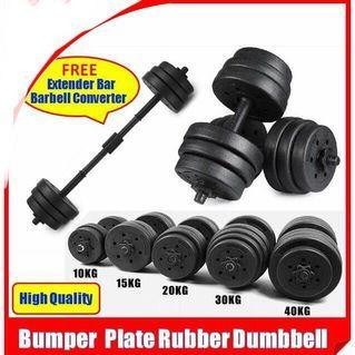 Rubber Dumbbell 25kg Free Extender