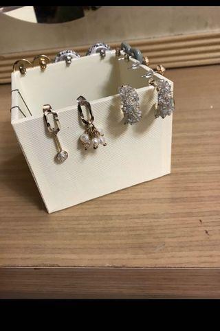 耳環整組賣-6  + 2條項鍊一起賣