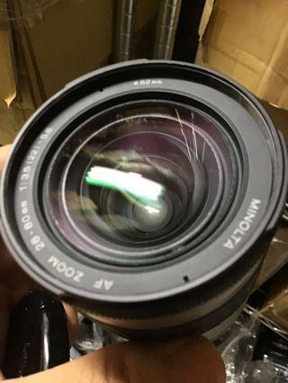 鏡頭 Minolta 28 80mm d for Sony a 含前蓋