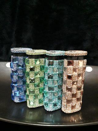 鑲嵌水晶鑽-華麗時尚防風打火機套組(四款合一)