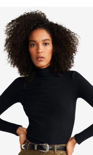 ♥️NEW📢MONKI RIBBED HIGH NECK TOP#women#zara#h&m#blouse#sweater