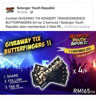 Butterfingers Free Tickets Chemistry between us