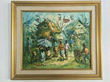 Lukisan Suasana Pasar Tradisional