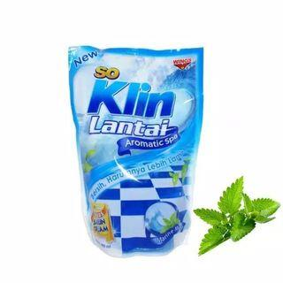 So Klin Lantai Marine Mint Refill 400 ml
