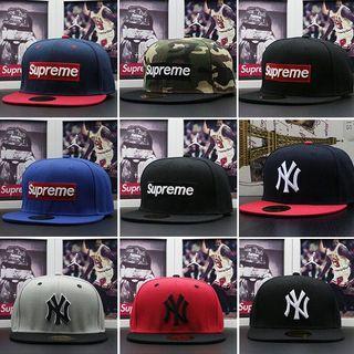 全新現貨Supreme棒球帽男女同款遮陽帽NY棒球帽