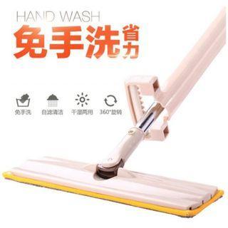乾濕兩用 免手洗 平板拖把