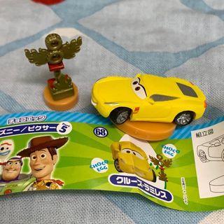 玩具總動員 出奇蛋 皮克斯  閃電再起 賽車總動員 科魯茲·拉米雷茲 小車 獎盃 furuta  cruz 汽車