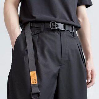 【 Gshop.】磁力扣機能腰帶男女 戰術工裝暗黑工業風加長尼龍皮帶