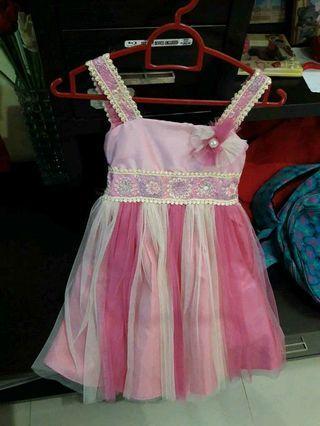 Gaun anak,umur 1-2thn