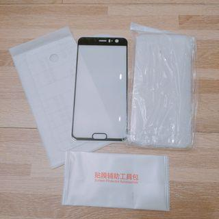 HTC U11 滿版鋼化玻璃膜 + 空壓 軟殼