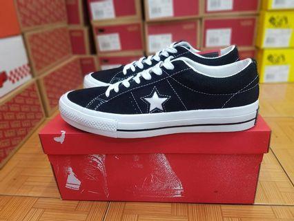 Sepatu Converse One Star Ox Black White