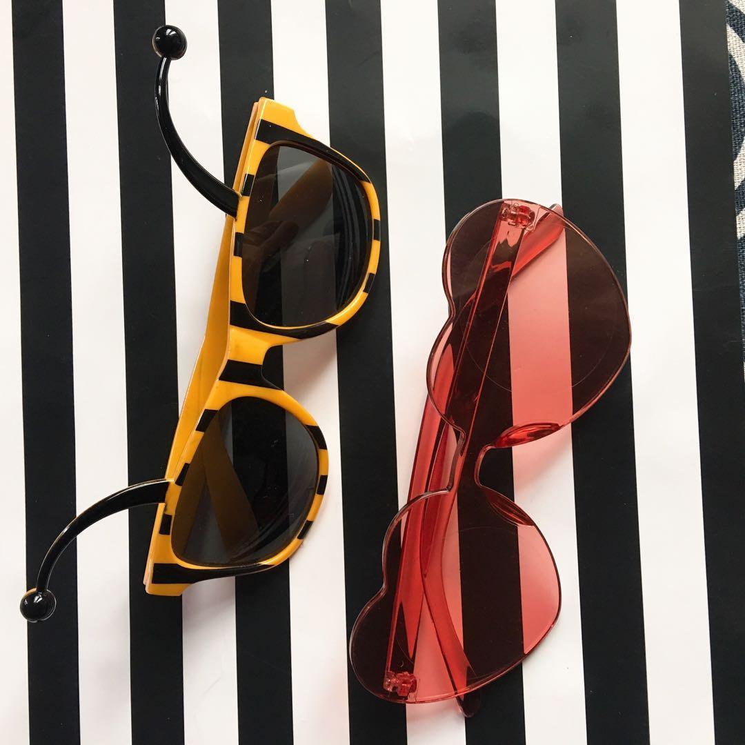全新造型眼鏡2個
