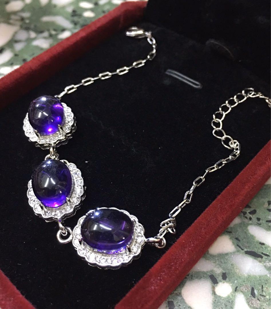 紫水晶手錬(包本港平郵)