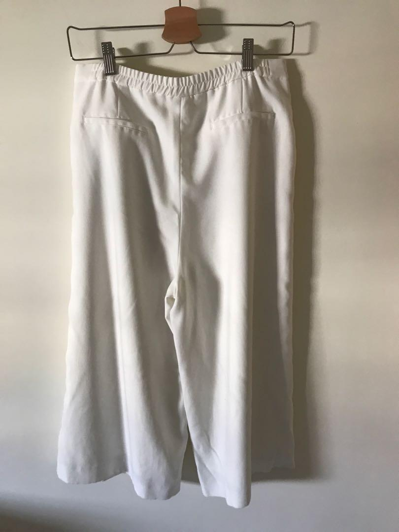 Lowrys farm正白色寬褲