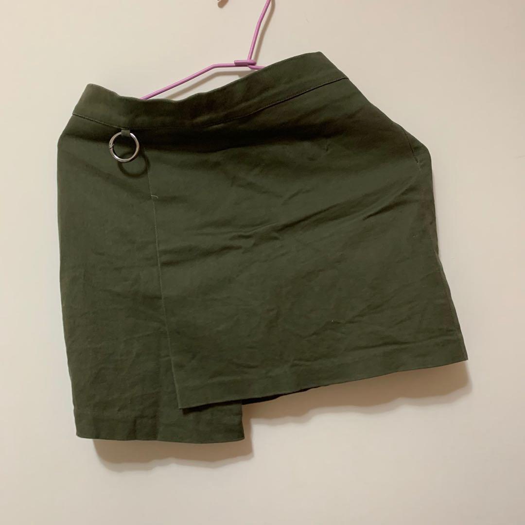 褲裙 軍綠色