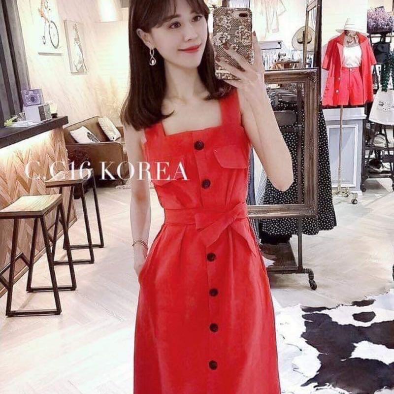 紅色正韓洋裝 沒穿過半次