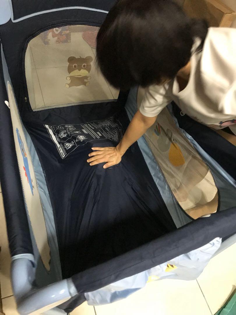 馬芝可 豪華全配 遊戲床 嬰兒床 球池床 攜帶方便 折疊式