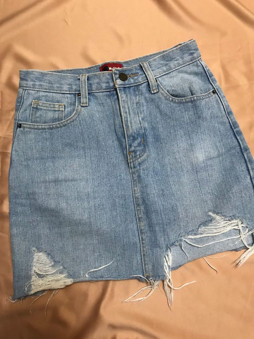 牛仔短裙 Denim Short skirt