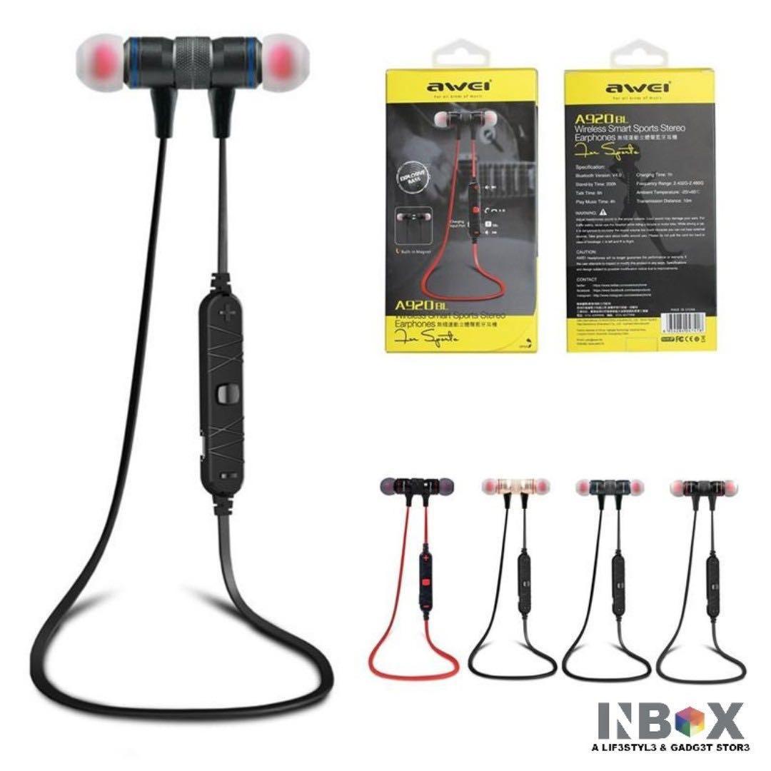 Awei A920BL Wireless Smart Sports Stereo Earphones