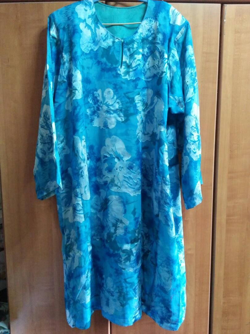 Beautiful Preloved Blue Floral Baju  Kurung