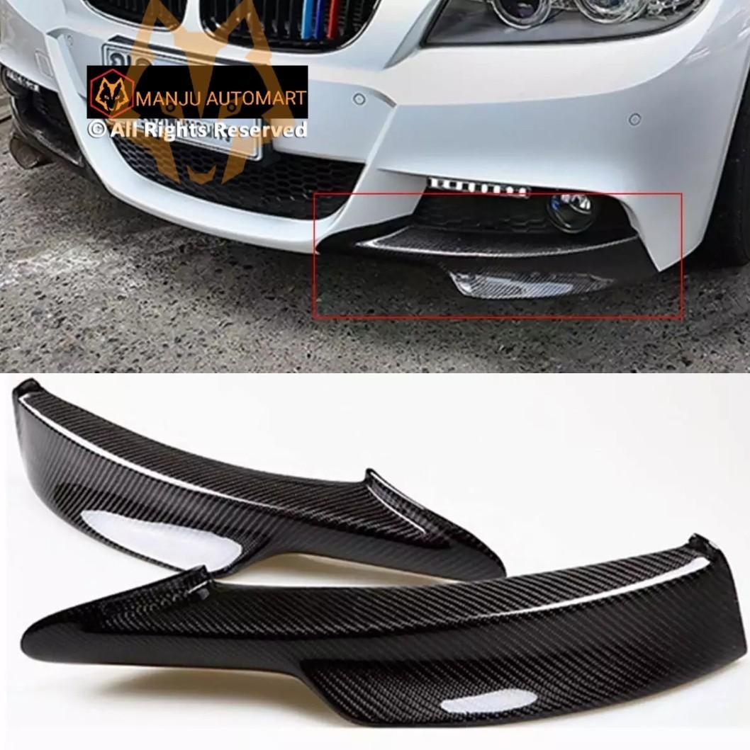 Fandixin F30 Splitters 2 Pieces Add-on Carbon Fiber Front Bumber Splitters Lip for BMW 3 Series F30