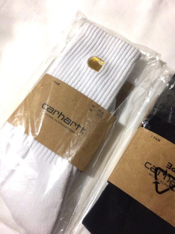 Carhartt  金標刺繡 長襪  襪子  黑色 白色
