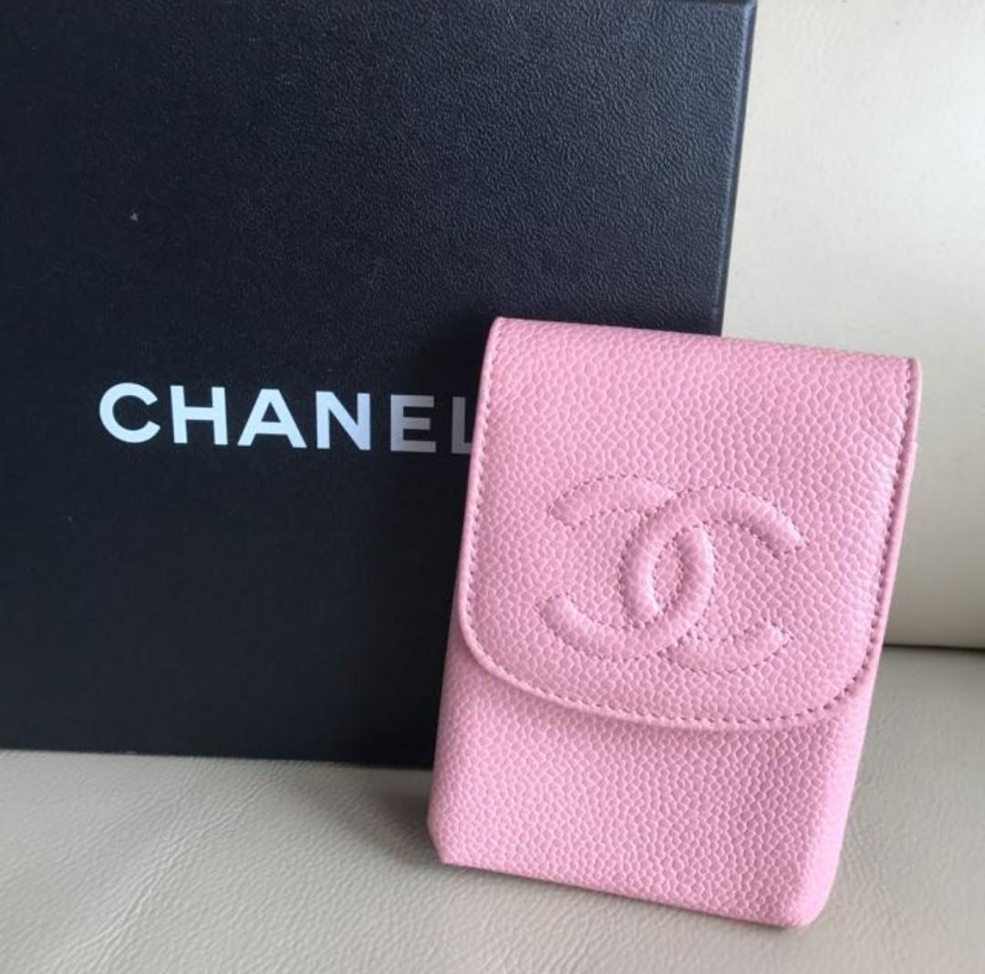 CHANEL PINK 櫻花 粉紅色 Wallet 牛皮 case #sellmybags