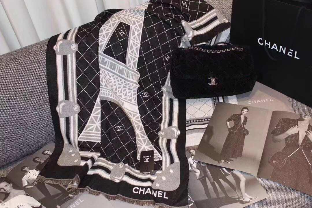 Chanel 化妝品專櫃Vip限額 贈品款  🌟🌟2019新款埃菲爾鐵塔贈品🗼圍巾🌟🌟