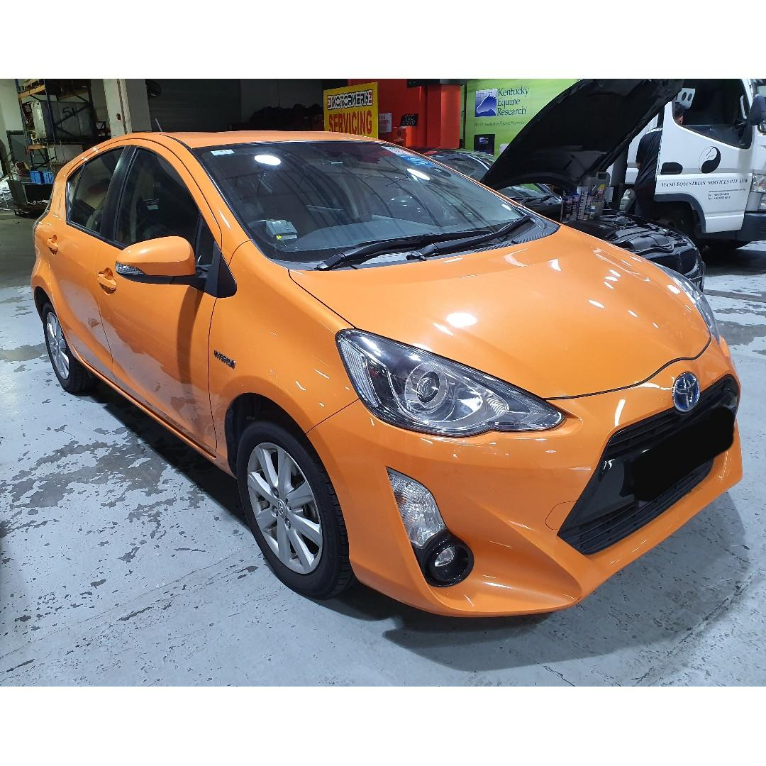 CHEAPEST PHV READY /NON PHV TOYOTA Prius C 1.5A FOR RENT