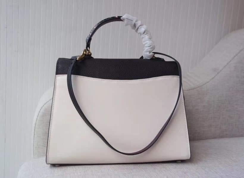 Coach Tabby Top Handle In Colorblock Snakeskin