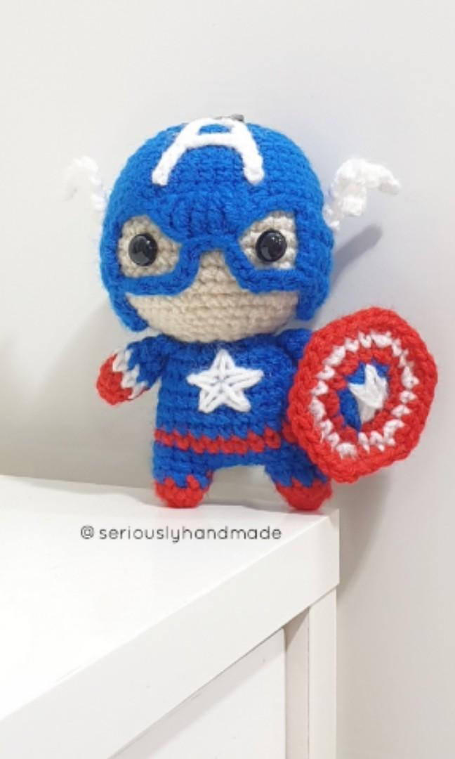 Amigurumi Captain America by SanneMarije.deviantart.com on ... | 1080x648