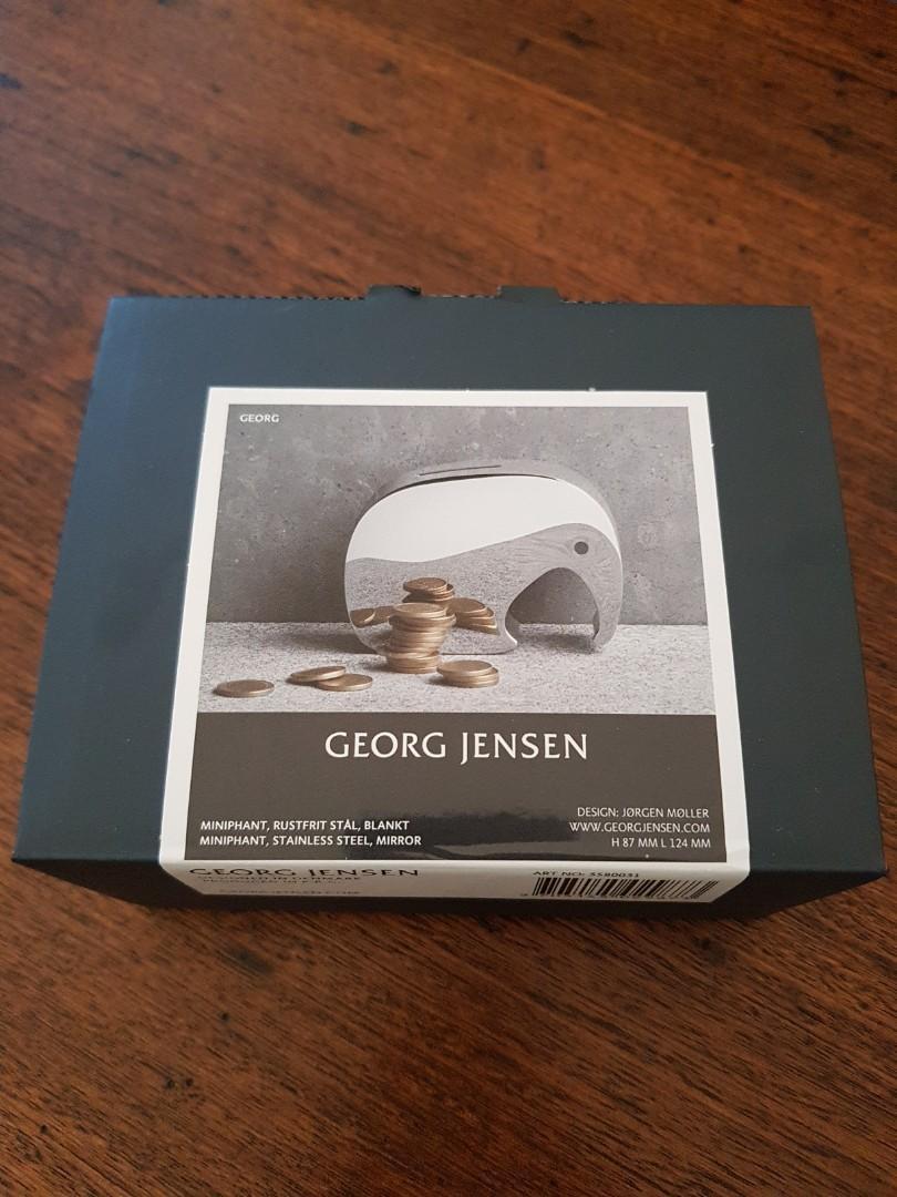 Georg Jensen miniphant elephant silver money box brand new